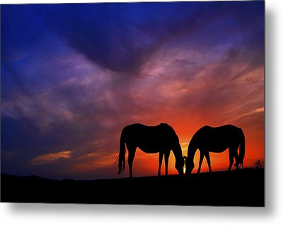 Sharing Supper Metal Print