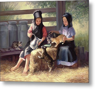 Sharing With A Friend Metal Print by Laurie Hein