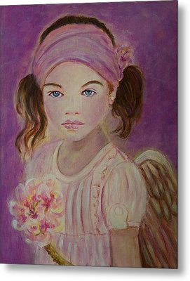 Sharissa Little Angel Of New Beginnings Metal Print by The Art With A Heart By Charlotte Phillips