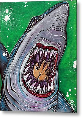 Shark Kill Zone Metal Print by Laura Barbosa