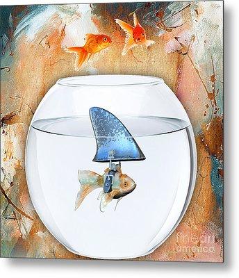 Shark Tale Metal Print by Marvin Blaine