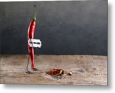 Sharp Chili Metal Print