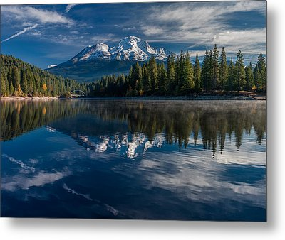 Shasta And Lake Siskiyou Metal Print by Greg Nyquist