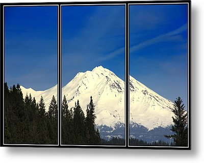 Metal Print featuring the photograph Shasta by Athala Carole Bruckner