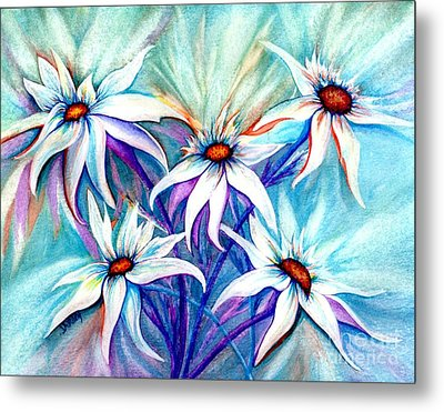 Shasta Daisy Dance Metal Print by Janine Riley