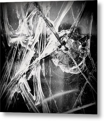 Metal Print featuring the photograph Shatter - Black And White by Joseph Skompski