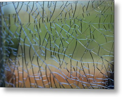 Metal Print featuring the photograph Shattered by Amber Kresge