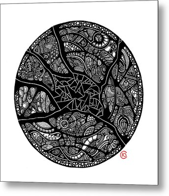 Shattered Core Metal Print