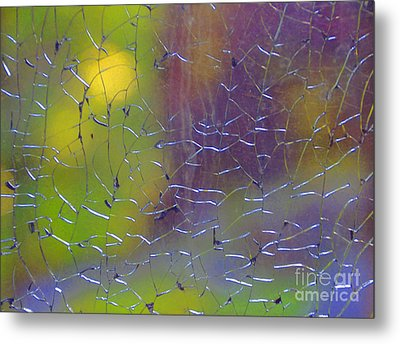 Shattered Glass Abstract 2 Metal Print