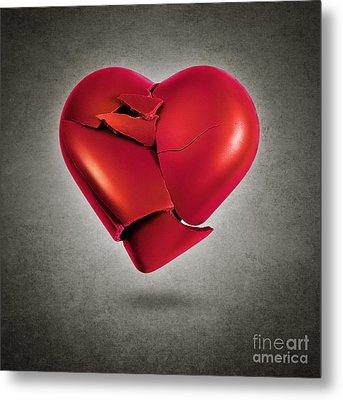 Shattered Heart Metal Print