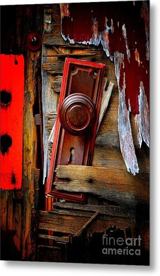 Shattered Metal Print by Newel Hunter