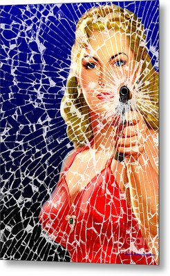 Shattered Metal Print by Sasha Keen