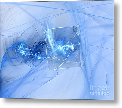 Metal Print featuring the digital art Shattered by Victoria Harrington