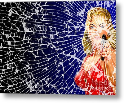 Shattered Wideshot Metal Print by Sasha Keen