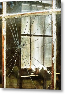 Shattered Window Metal Print by Melissa Bittinger