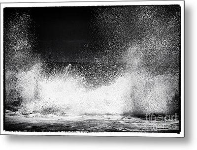 Shattering Waves Metal Print by John Rizzuto