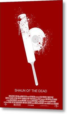 Shaun Of The Dead Custom Poster Metal Print by Jeff Bell