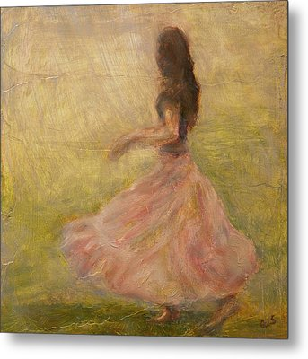 She Dances With The Rain Metal Print by Quin Sweetman