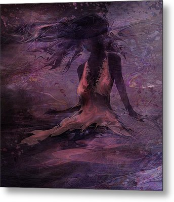 She Is The Wind Metal Print by Rachel Christine Nowicki