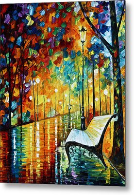 She Left.... New Version Metal Print by Leonid Afremov