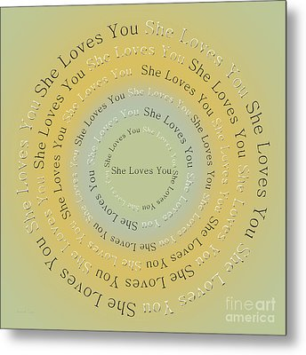 She Loves You 4 Metal Print by Andee Design