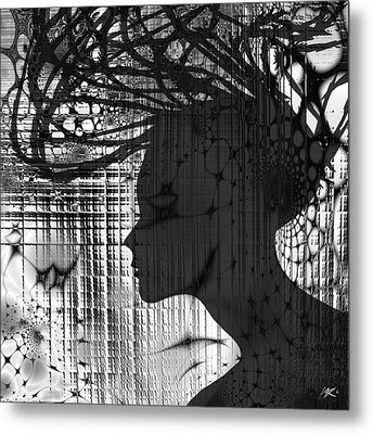 She Rocks Metal Print
