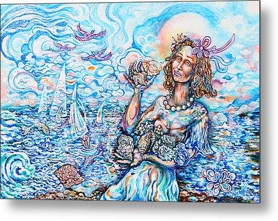 She Sells Seashells By The Seashore Metal Print by Susan Schiffer