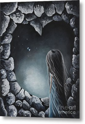 She Talks To Rainbows And Fireflies By Shawna Erback Metal Print by Shawna Erback