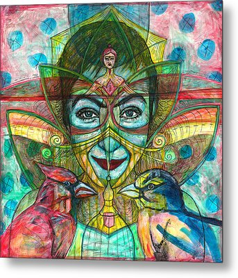 She Thought She Was Small And Trapped But She Was Not Metal Print by Elizabeth D'Angelo