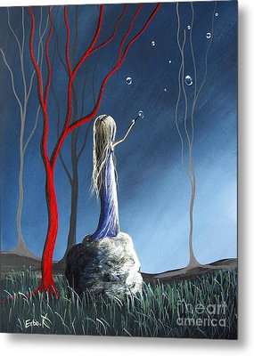 She Whispers Her Dreams By Shawna Erback Metal Print by Shawna Erback