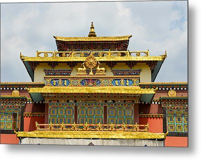Shechen Monastery In Kathmandu Metal Print by Dutourdumonde Photography