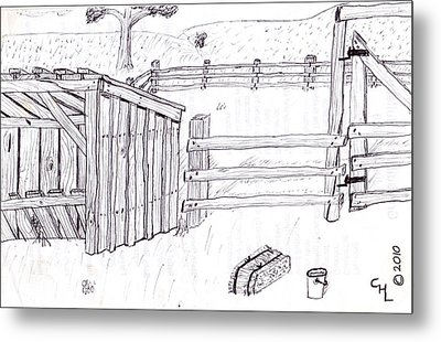 Shed 1 Metal Print by Clark Letellier