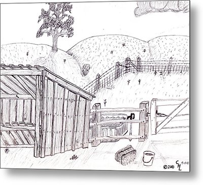 Shed 2 Metal Print by Clark Letellier