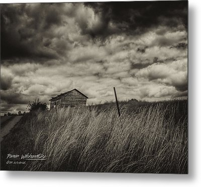 Shed And Field Metal Print