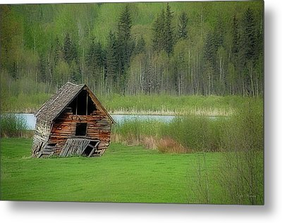 Shed By The Lake Metal Print by Dyle   Warren