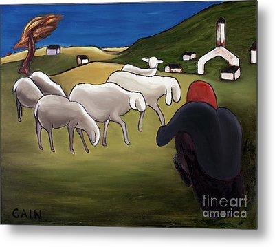Sheep Herder  Metal Print