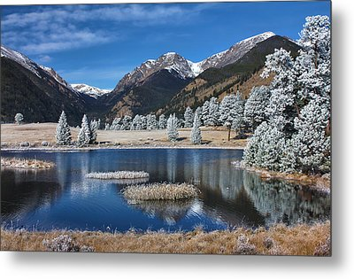 Metal Print featuring the photograph Sheep Lakes In Late October by Darrell E Spangler