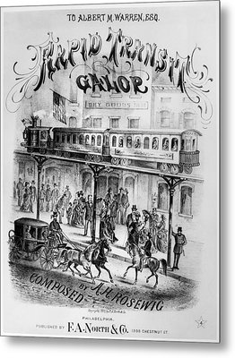 Sheet Music Cover, 1875 Metal Print by Granger
