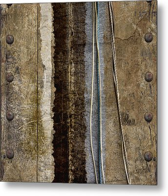 Sheetmetal Strings Metal Print by Carol Leigh