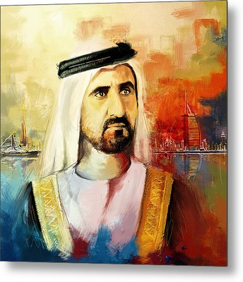 Sheikh Mohammed Bin Rashid Al Maktoum Metal Print by Corporate Art Task Force