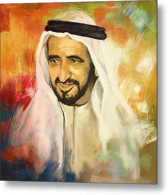 Sheikh Rashid Bin Saeed Al Maktoum Metal Print