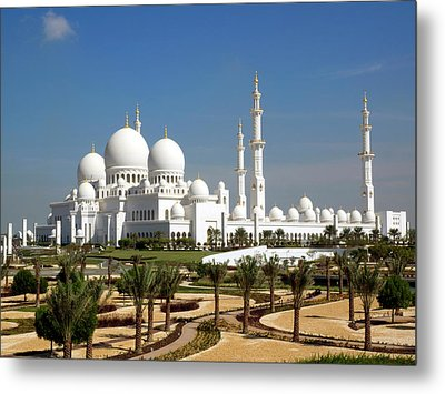 Sheikh Zayed Bin Sultan Al Nahyan Grand Metal Print by Panoramic Images