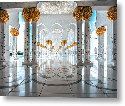 Metal Print featuring the photograph Sheikh Zayed Grand Mosque by Robert  Aycock