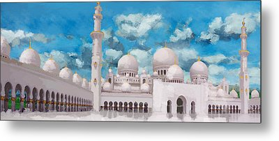Sheikh Zayed Mosque Metal Print by Catf