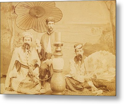 Metal Print featuring the photograph Sheiks by Paul Ashby Antique Image
