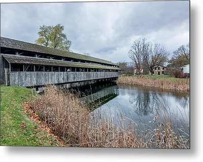 Metal Print featuring the photograph Shelburne Covered Bridge by Jeremy Farnsworth