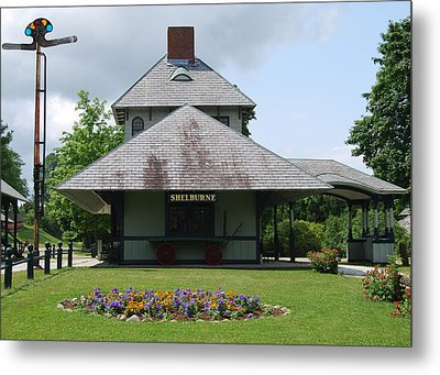 Metal Print featuring the photograph Shelburne Depot by Caroline Stella
