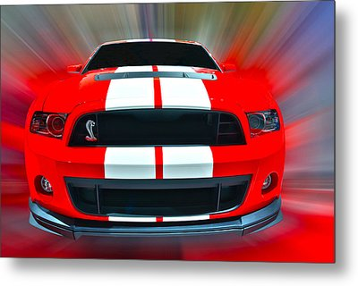 Shelby Gt 500  2013 Metal Print