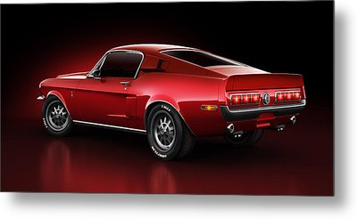 Shelby Gt500 - Redline Metal Print by Marc Orphanos