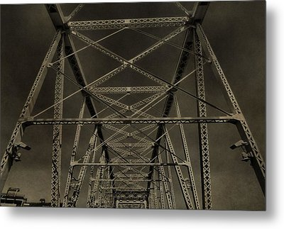 Shelby Street Bridge Details Nashville Metal Print by Dan Sproul